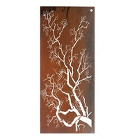Outdoor Laser Cut Wall Art - Polarize Tree Flat Screen