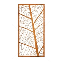 Laser Cut Wall Mounted Decor - Leaf Vein Screen