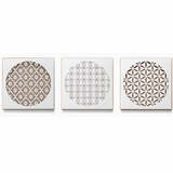 Groovy Flower Triptych Metal Wall Art