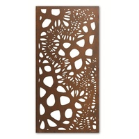 Veronoi Outdoor Metal Wall Art