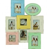 Colourful Wooden Multi 8Photo Frame