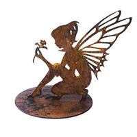 Fairy on Stand Metal Garden Ornament