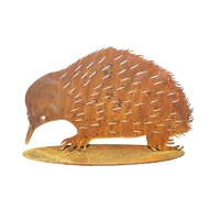 Rusted Large Echidna Stand Metal Garden Art