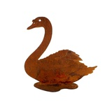Swan Stand Metal Garden Ornament