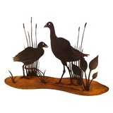 Waterbirds Stand Metal Garden Ornament