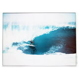 Blue Surfer Tube Canvas Wall Print