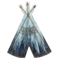 Set 2 Teepee Wooden Wall Art Decor