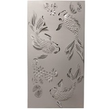 Koi Pond 3D Laser Cut Steel Wall Art