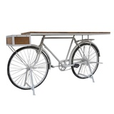 White Vintage Bicycle Bar