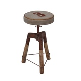 Industrial No 3 Wind Up Bar Stool