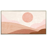 Abstract Sunscape Canvas Painting
