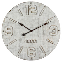 Vintage 1886 Off White Wall Clock