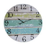 Beach Green Strip Clock