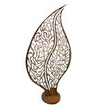 Large Leaf Metal Sculpture 5 Outdoor Art