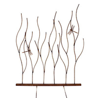 Grass with Dragonflies Garden Stake Outdoor Sculpture