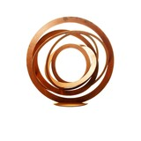 Large Outdoor Contemporary Sculpture - Rusted Sphere 100cm