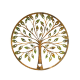 Laser Cut Rusty Tree Heart Metal Wall Art