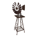 Large Metal Rust Country Windmill Weather Vane