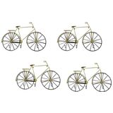 Metal 3 Multi Hooks Bicycle Wall Hanging Set 4