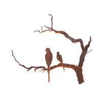 Outdoor Wall Sculpture - Bird Branch