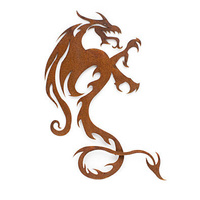 Dragon Rusted Metal Wall Art