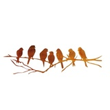 Seven Birds Rusted Metal Wall Art