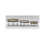 Wooden Metal Round Tables Outdoor Furniture