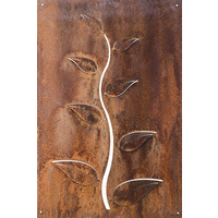 Large Leaves Panel Corten Steel Garden Wall Art