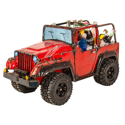 EEIEEIO 4x4 Jeep Recycled Beverage Tub Red