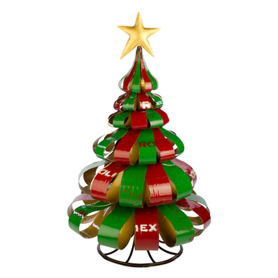 EEIEEIO Christmas Ribbon Tree Outdoor Metal Art