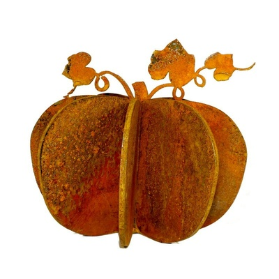 Pumpkin Metal Garden Art