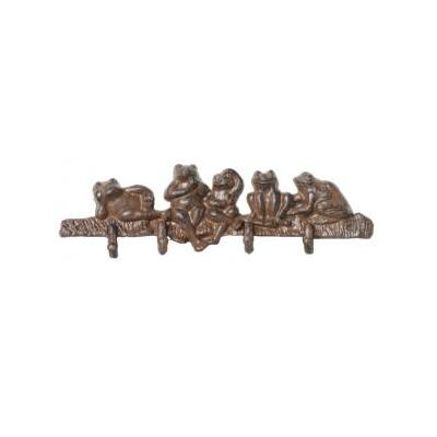 Cast Iron Frog Hooks Wall Hanging